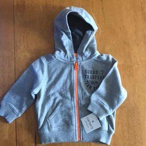9months zip up hoodie